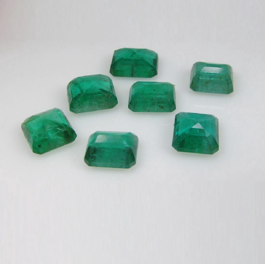 13.19 Carat - 7 Loose Emeralds - 3