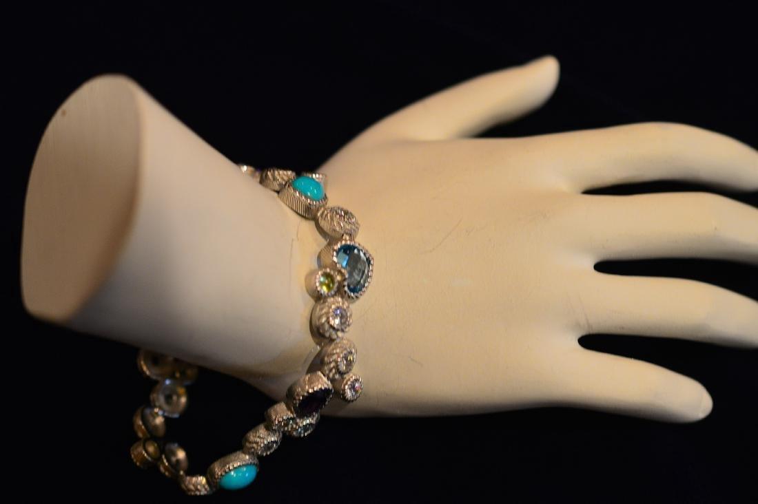 Judith Ripka Sterling Silver Turquoise Quartz Bracelet