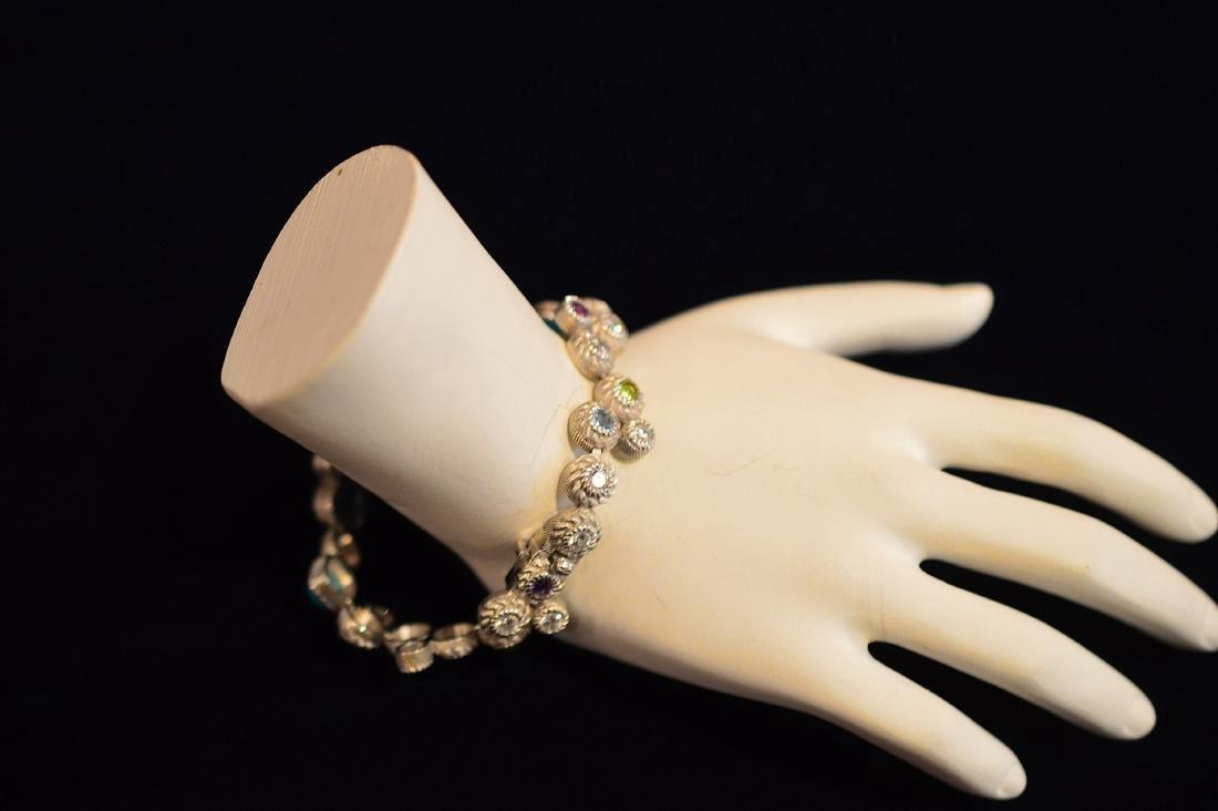 Judith Ripka Sterling Silver Turquoise Quartz Bracelet - 2