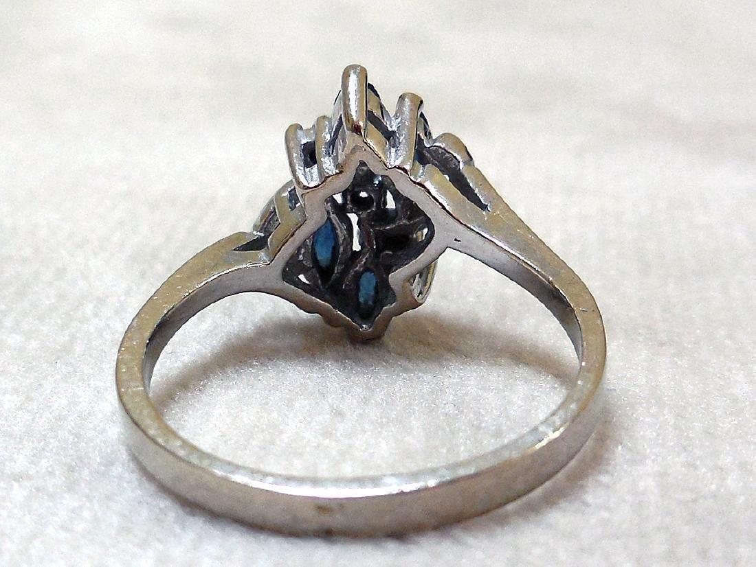 Vintage 14K Gold Sapphire Diamond Ring - 6