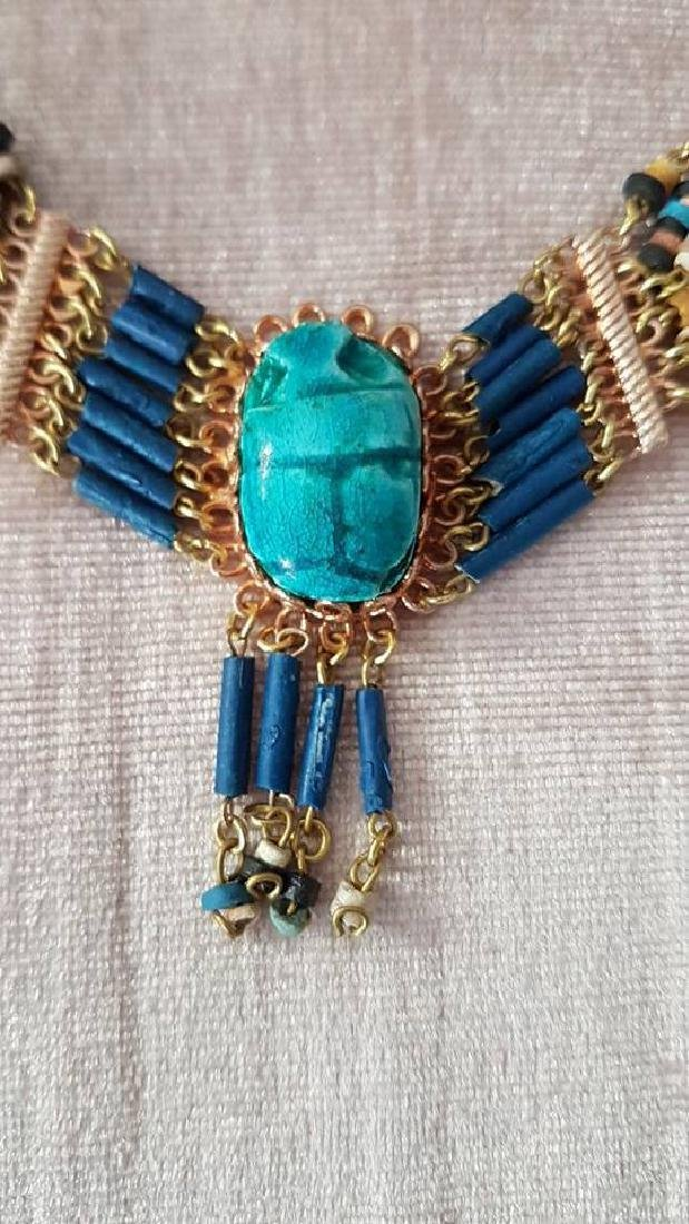 Egyptian Handmade Turquoise Necklace & Earrings - 2