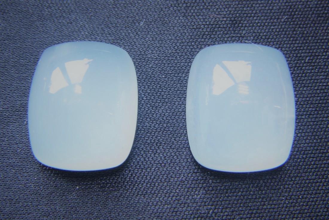 20.40 Carat - Pair of Loose Milky Aquamarine - 3