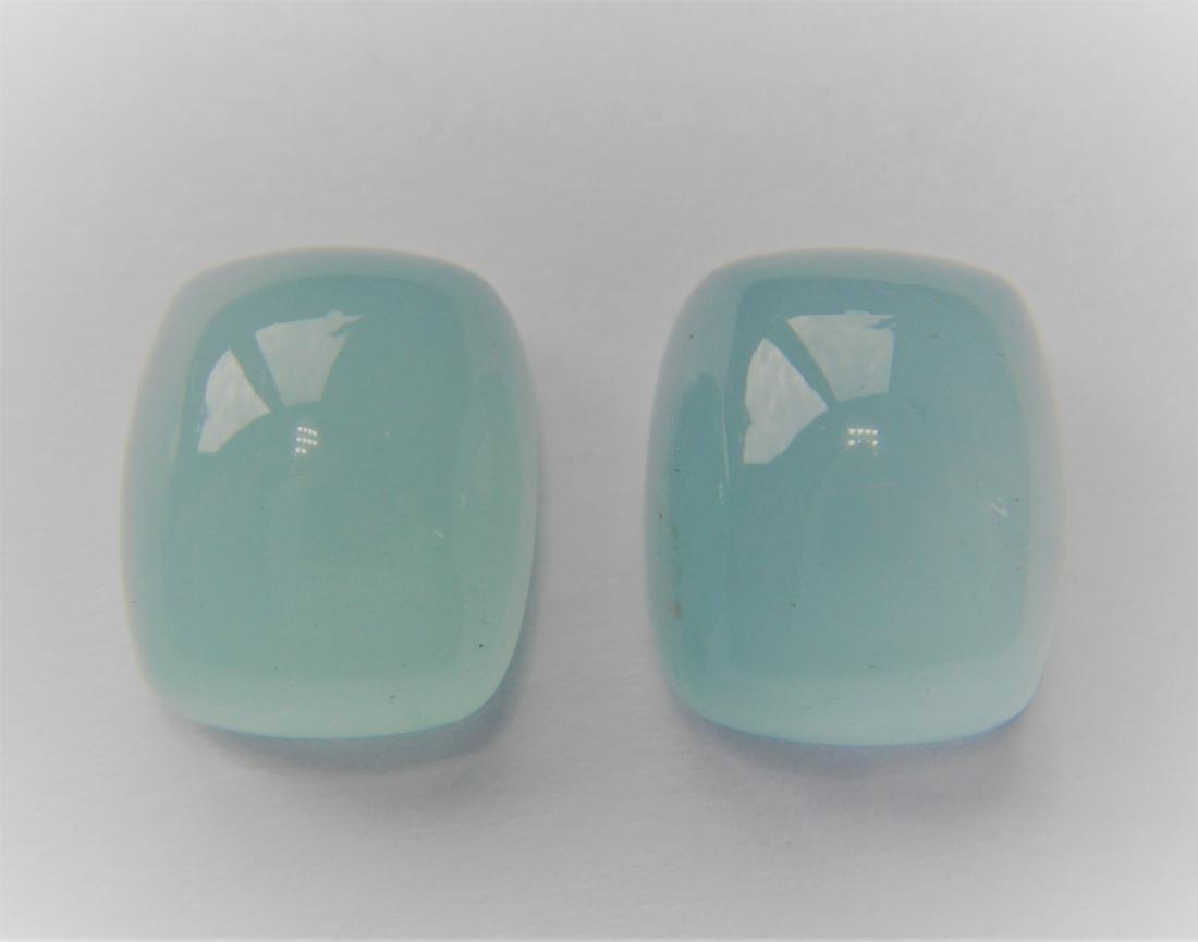 20.40 Carat - Pair of Loose Milky Aquamarine - 4