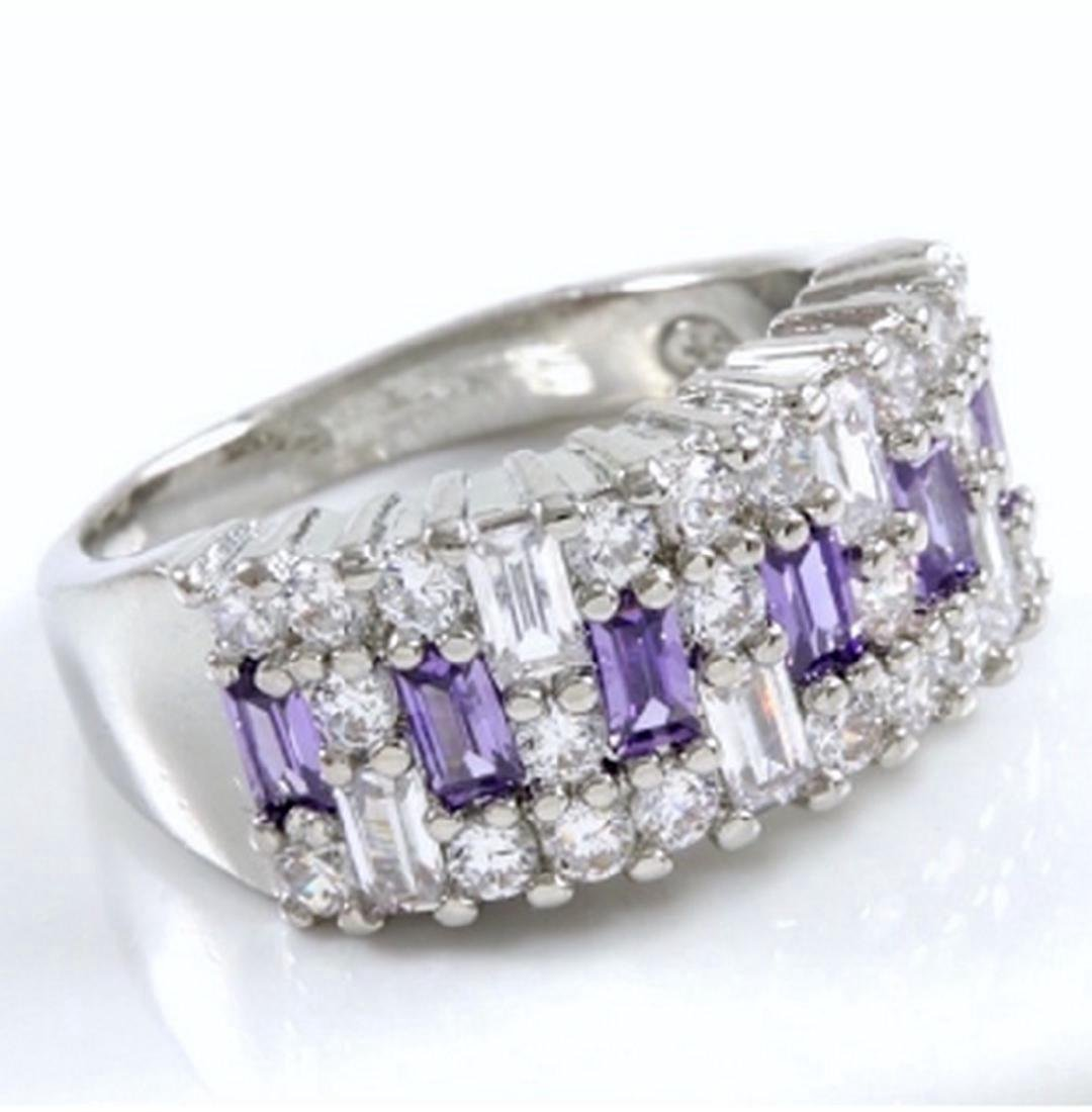 14K Gold Filled Amethyst White Sapphire Ring, 1.90ctw