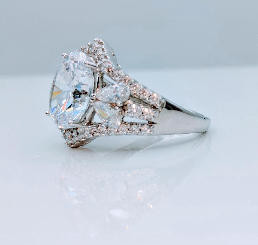 Sterling Silver Cubic Zirconia Ring, 12.05ctw - 2