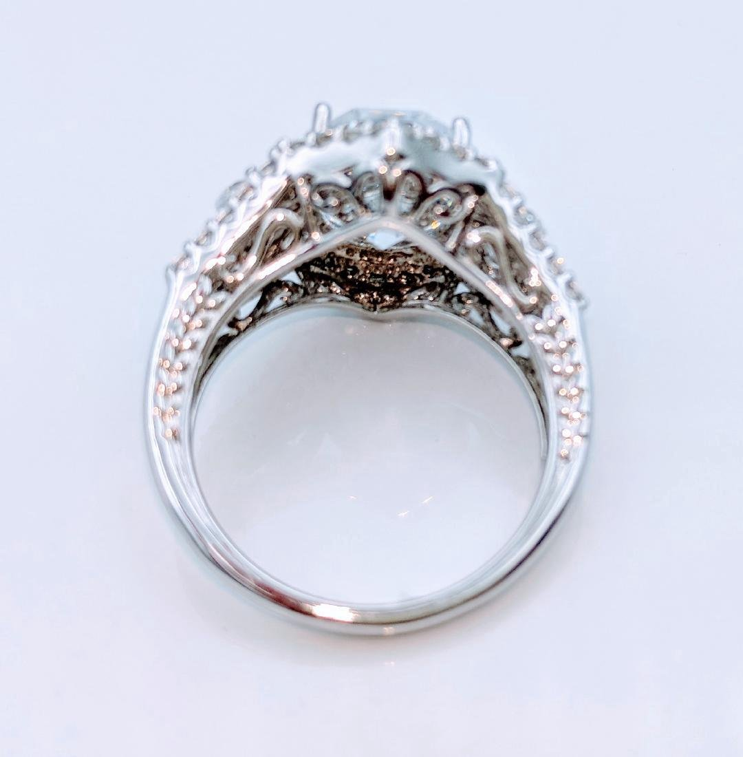 Sterling Silver Cubic Zirconia Ring, 12.05ctw - 3