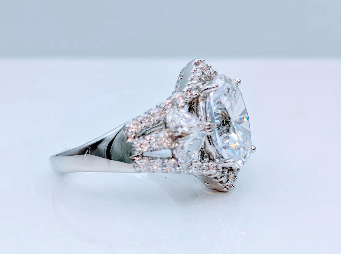 Sterling Silver Cubic Zirconia Ring, 12.05ctw - 4