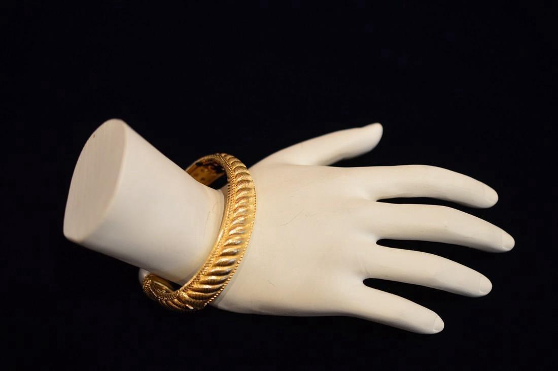 Judith Ripka Gold Clad Sterling Silver Pearl Cuff - 2
