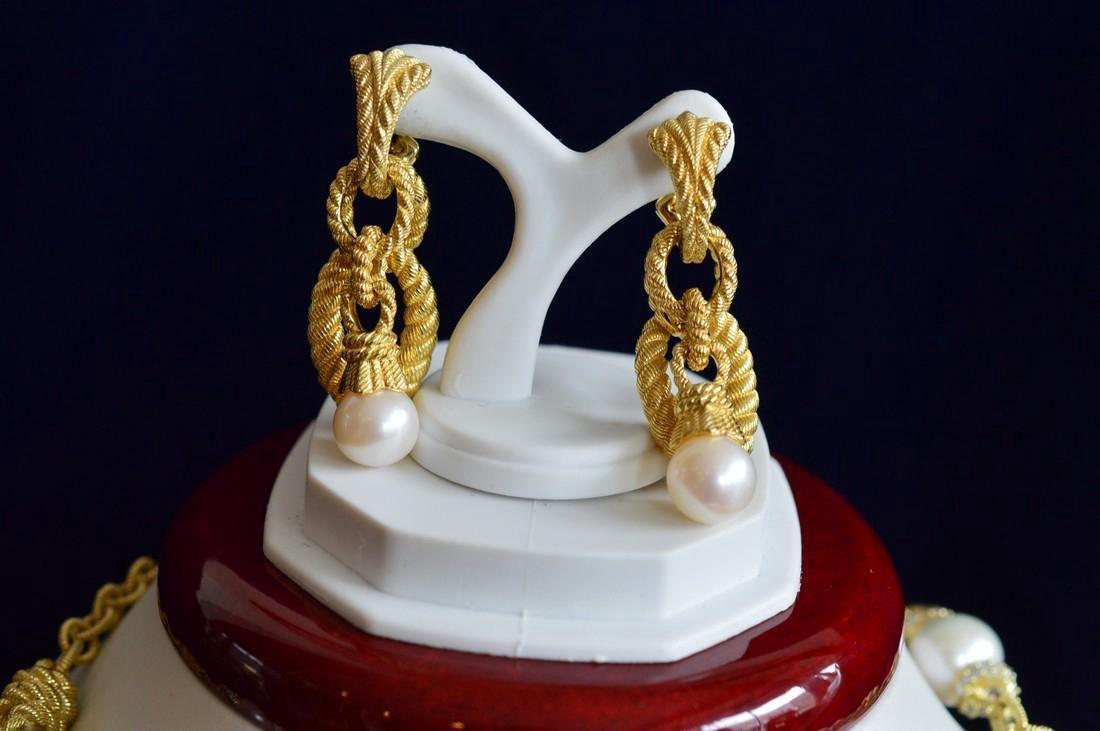 Judith Ripka Gold Clad Sterling Pearl CZ Jewelry Set - 2