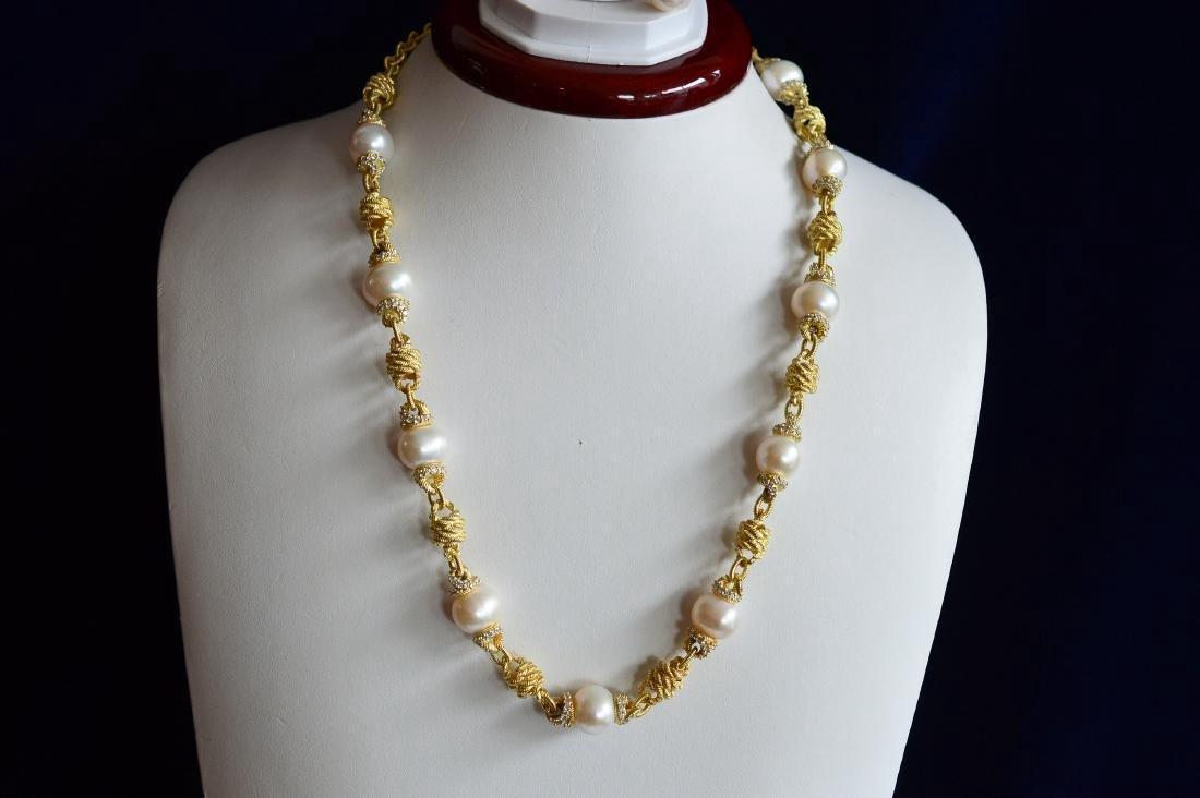 Judith Ripka Gold Clad Sterling Pearl CZ Jewelry Set - 3