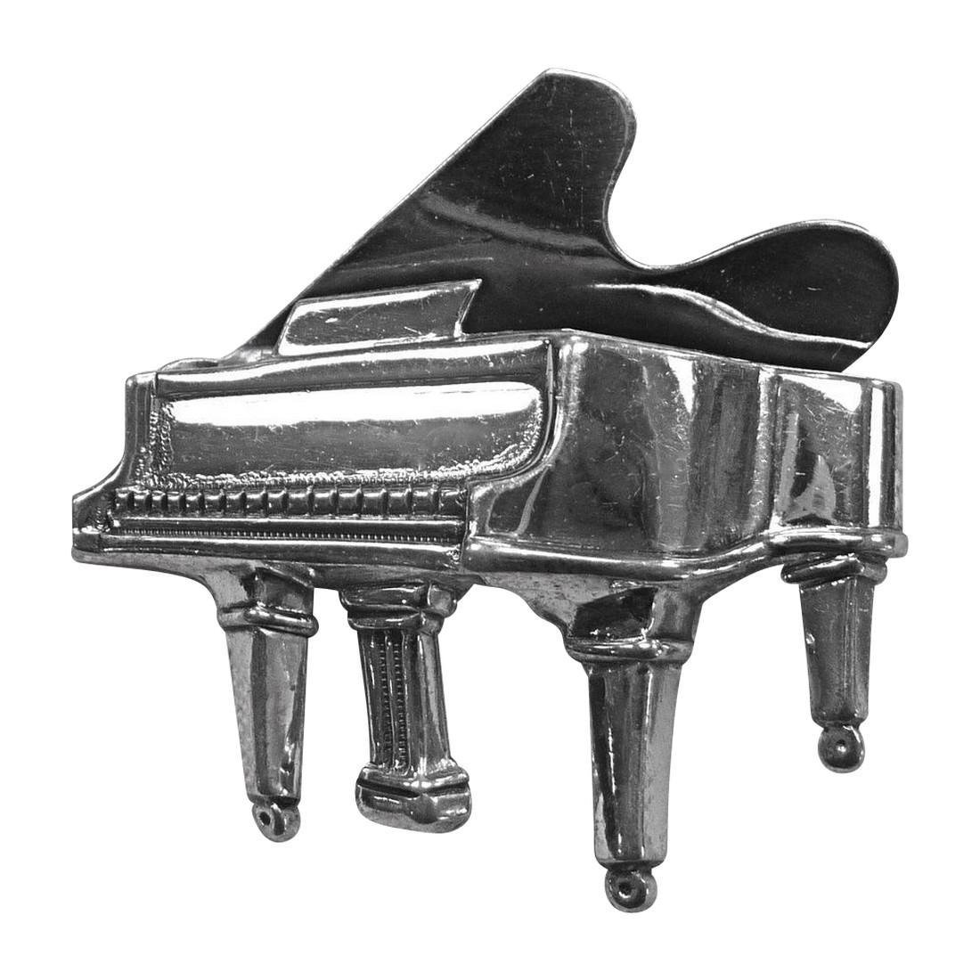 Mid-Century Beau Sterling Silver Grand Piano Pin