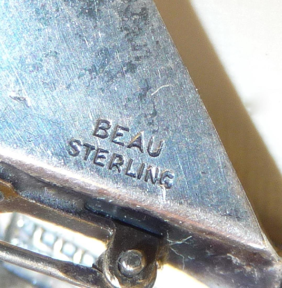 Mid-Century Beau Sterling Silver Grand Piano Pin - 5