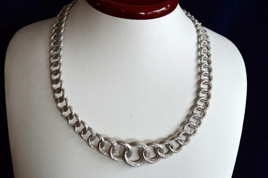 Graduated Sterling Silver Necklace Bracelet Earrings - 2