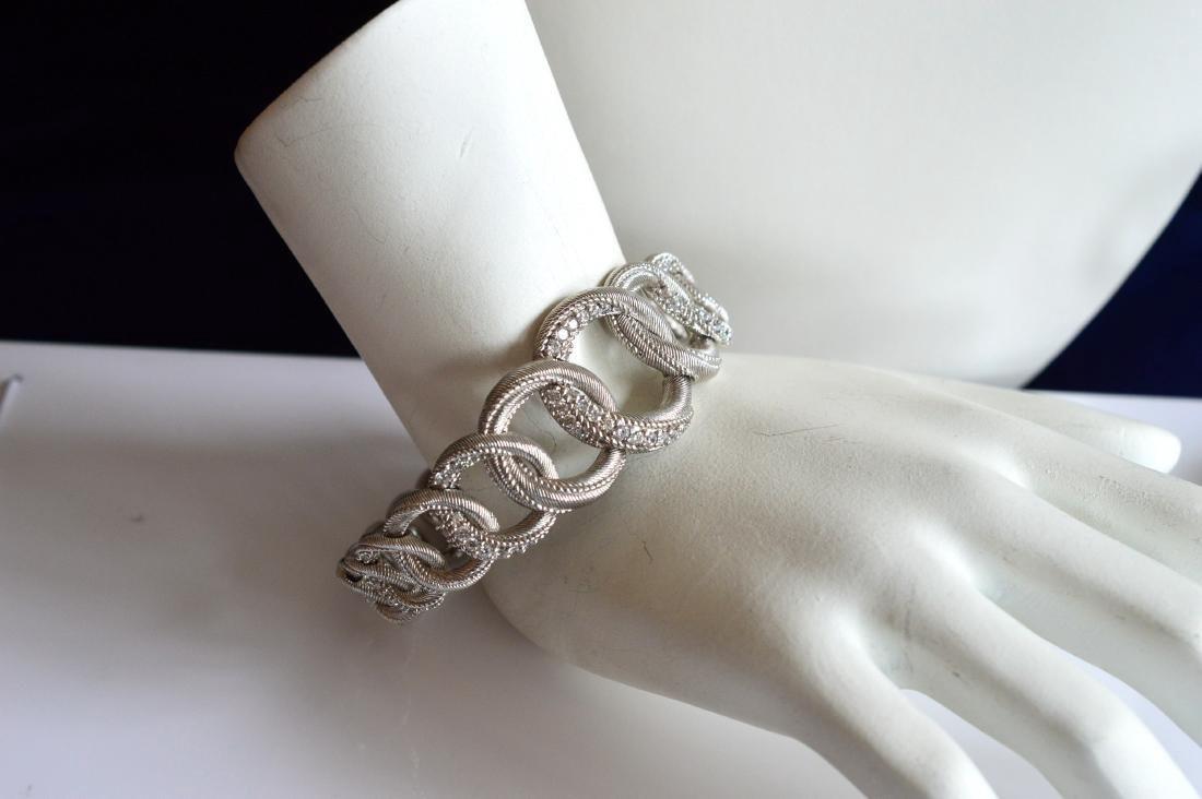 Graduated Sterling Silver Necklace Bracelet Earrings - 3