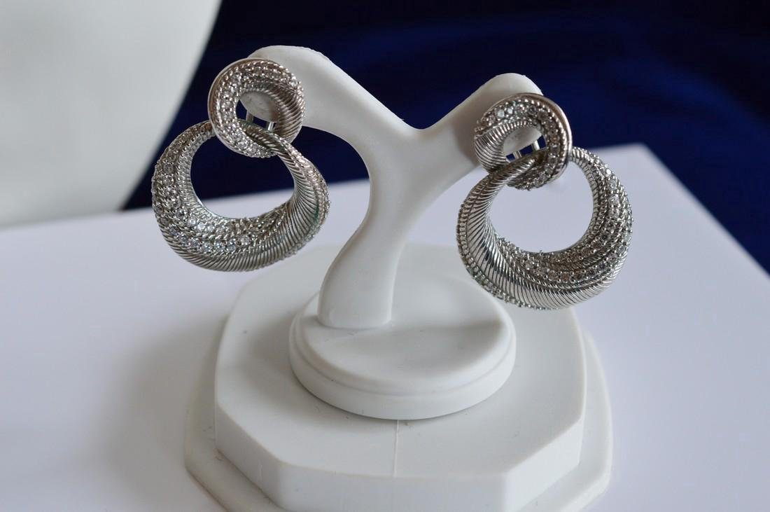Graduated Sterling Silver Necklace Bracelet Earrings - 4