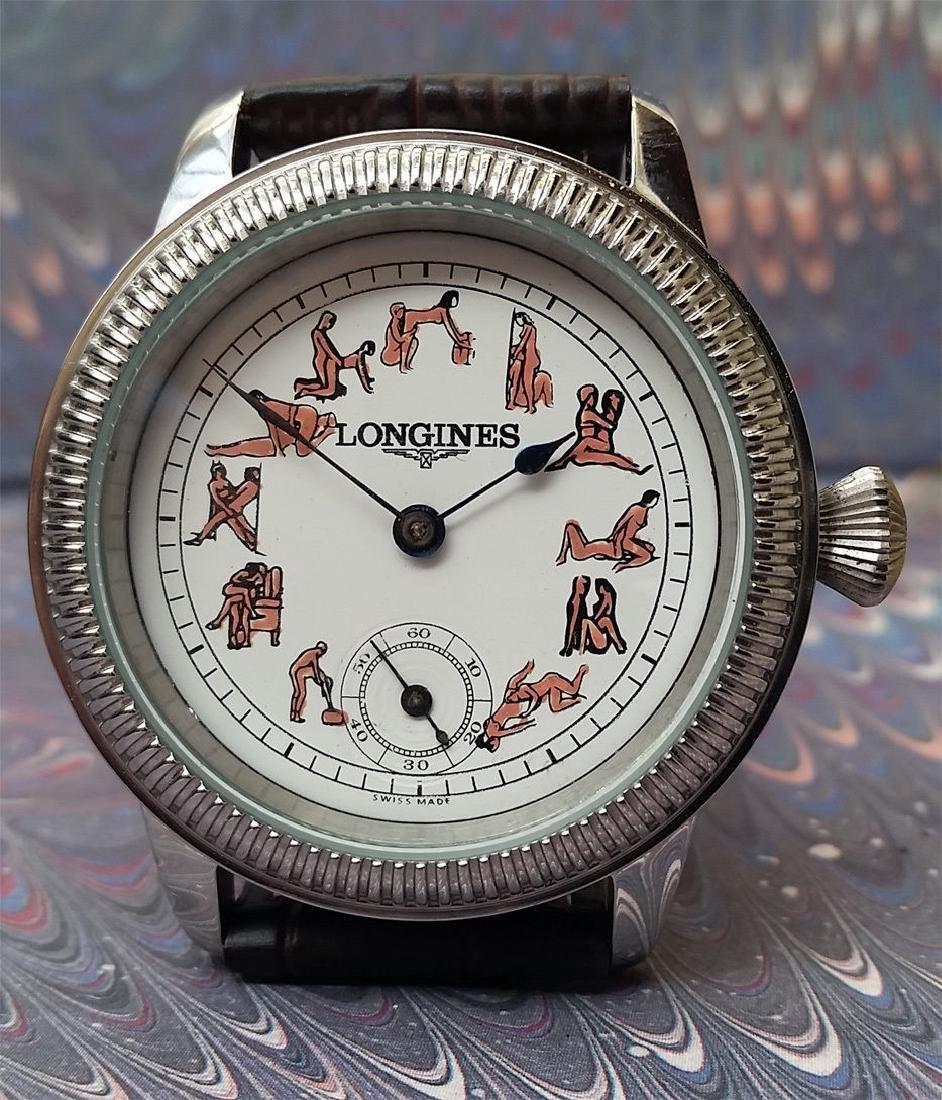 Vintage Longines Customized Kamasutra Dial Watch