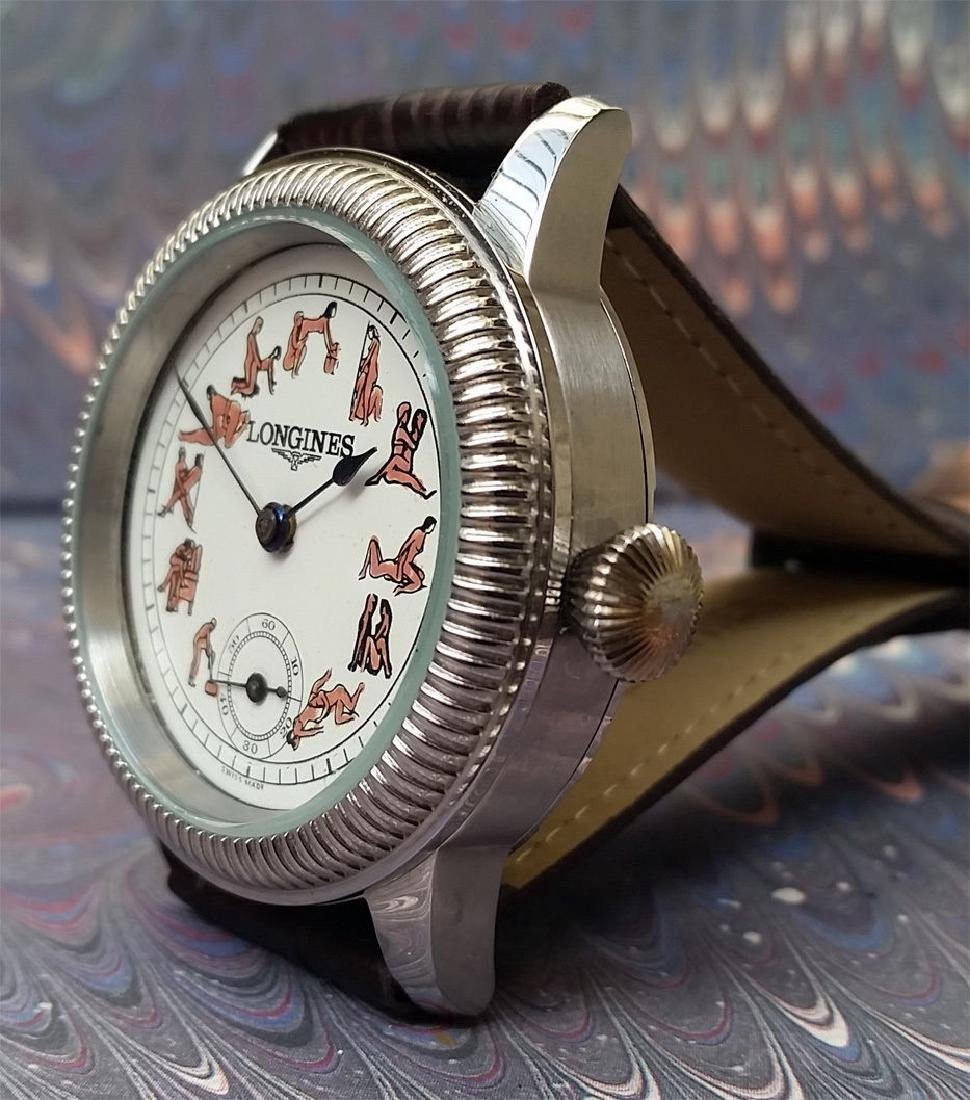 Vintage Longines Customized Kamasutra Dial Watch - 3