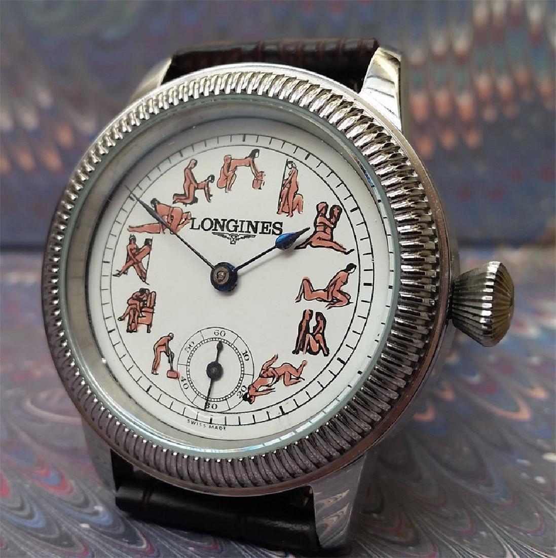 Vintage Longines Customized Kamasutra Dial Watch - 4