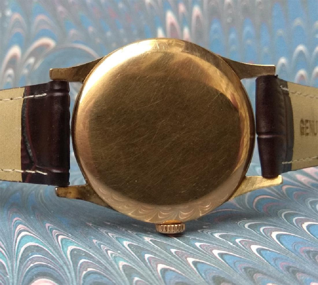 Vintage Longines 18K Solid Gold Blue Dial Manual Watch - 5