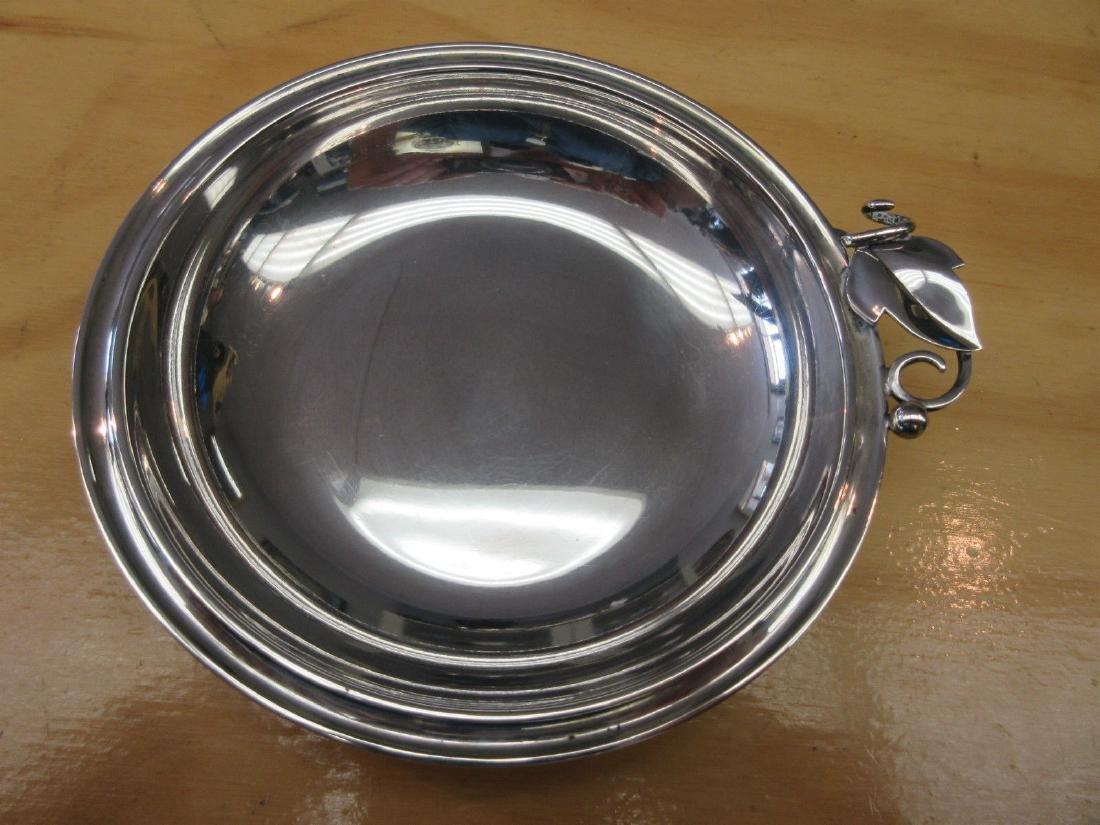 Danish Modernist Art Deco 830 Silver Bowl Candy Dish