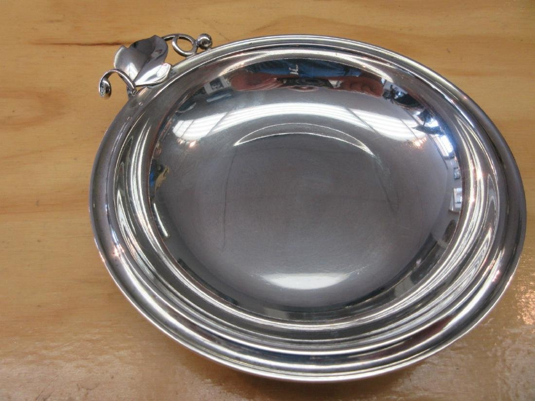 Danish Modernist Art Deco 830 Silver Bowl Candy Dish - 2