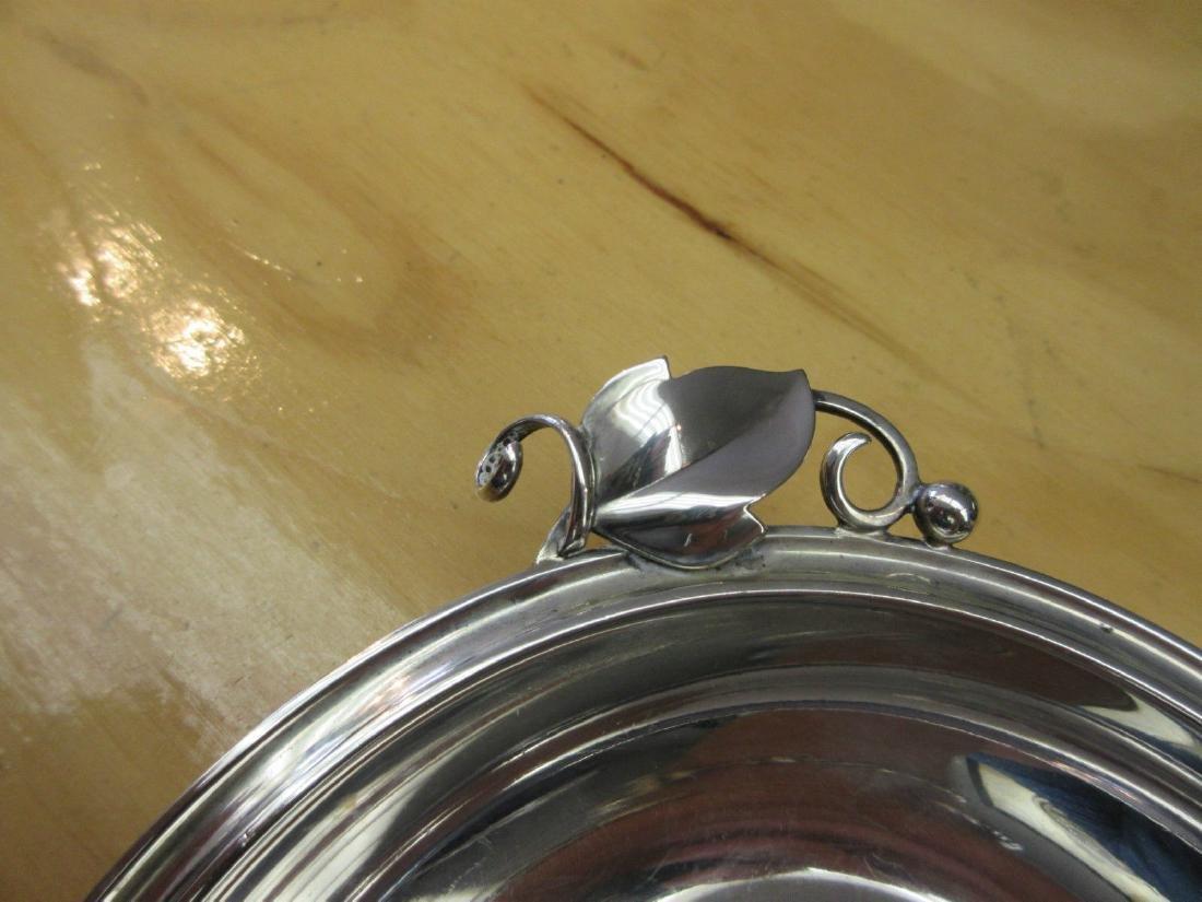 Danish Modernist Art Deco 830 Silver Bowl Candy Dish - 3