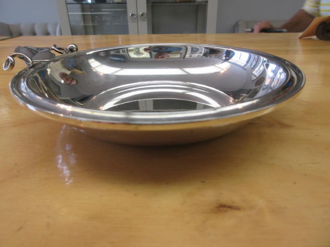 Danish Modernist Art Deco 830 Silver Bowl Candy Dish - 4