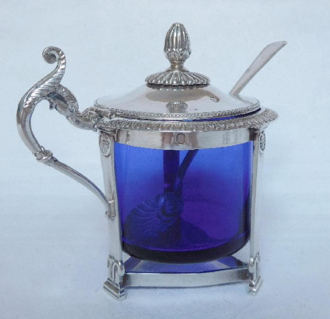 Antique French Empire Sterling Silver Mustard Pot