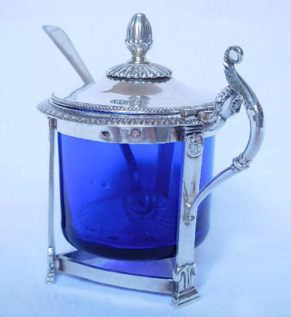 Antique French Empire Sterling Silver Mustard Pot - 3