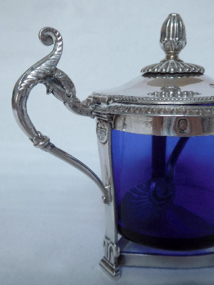 Antique French Empire Sterling Silver Mustard Pot - 6