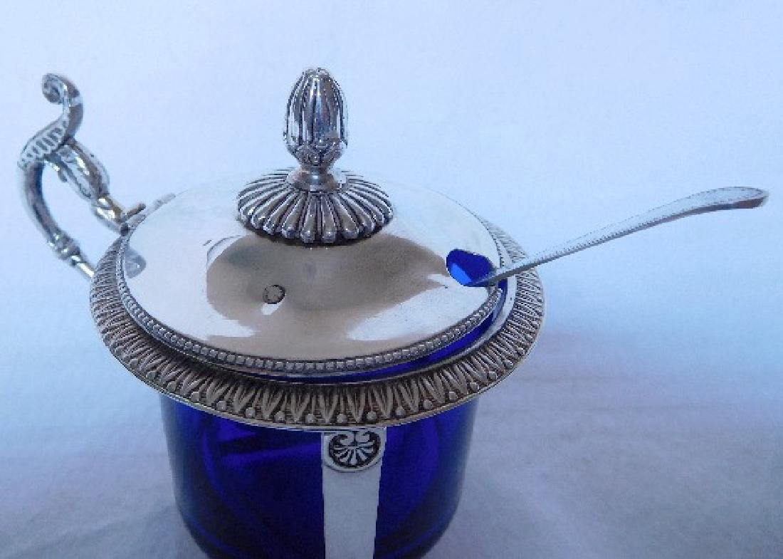 Antique French Empire Sterling Silver Mustard Pot - 7