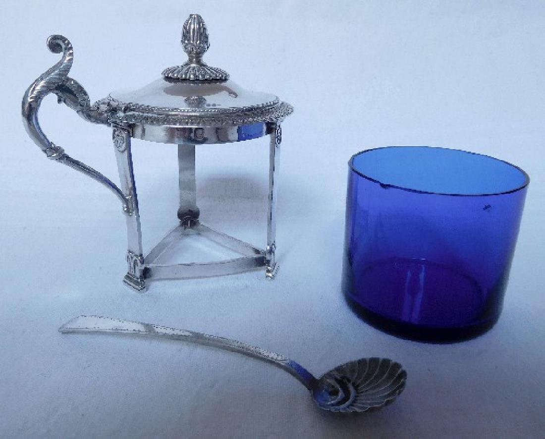 Antique French Empire Sterling Silver Mustard Pot - 8