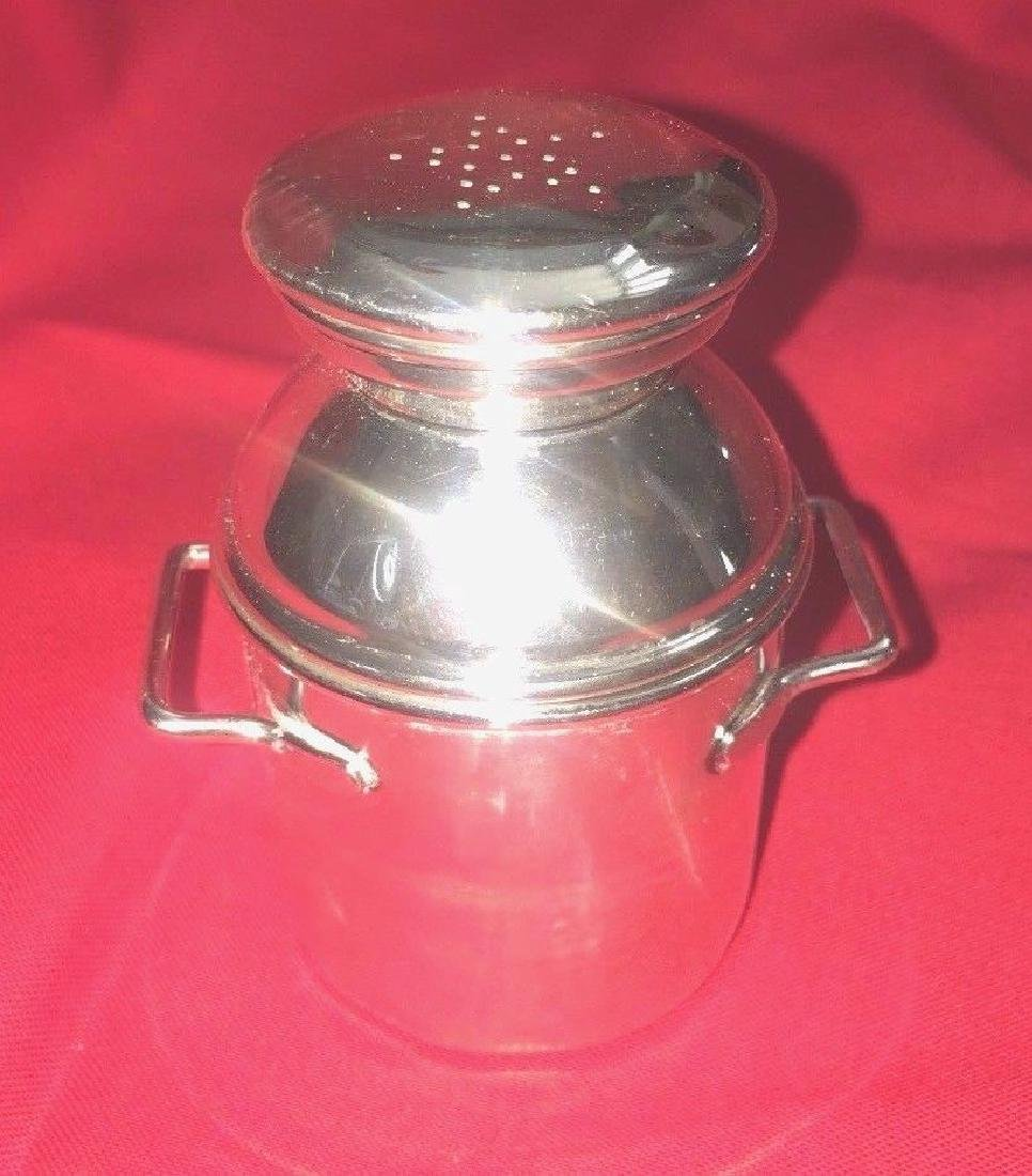 Vintage Sterling Silver Salt & Pepper MilkCan