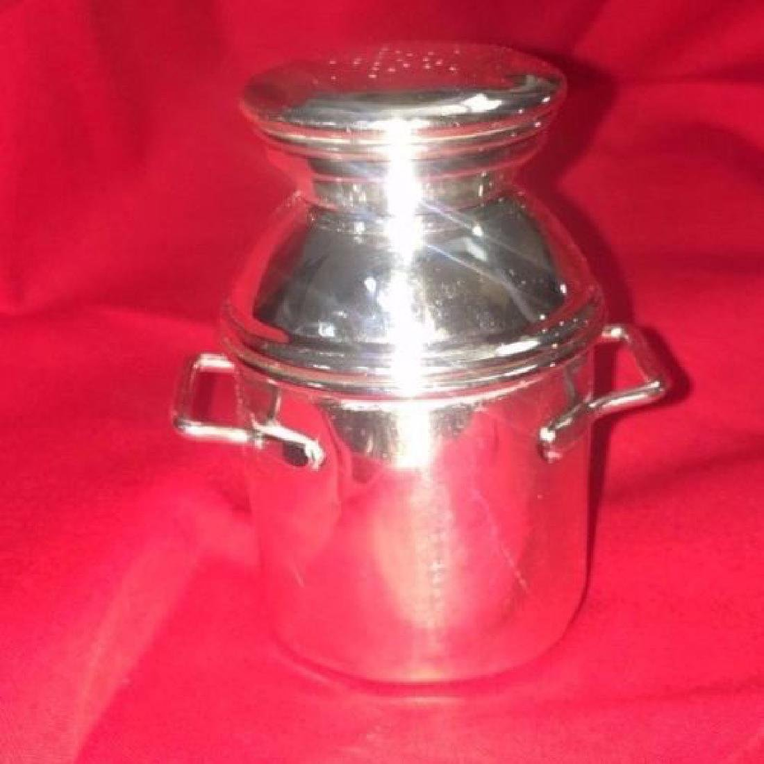 Vintage Sterling Silver Salt & Pepper MilkCan - 2