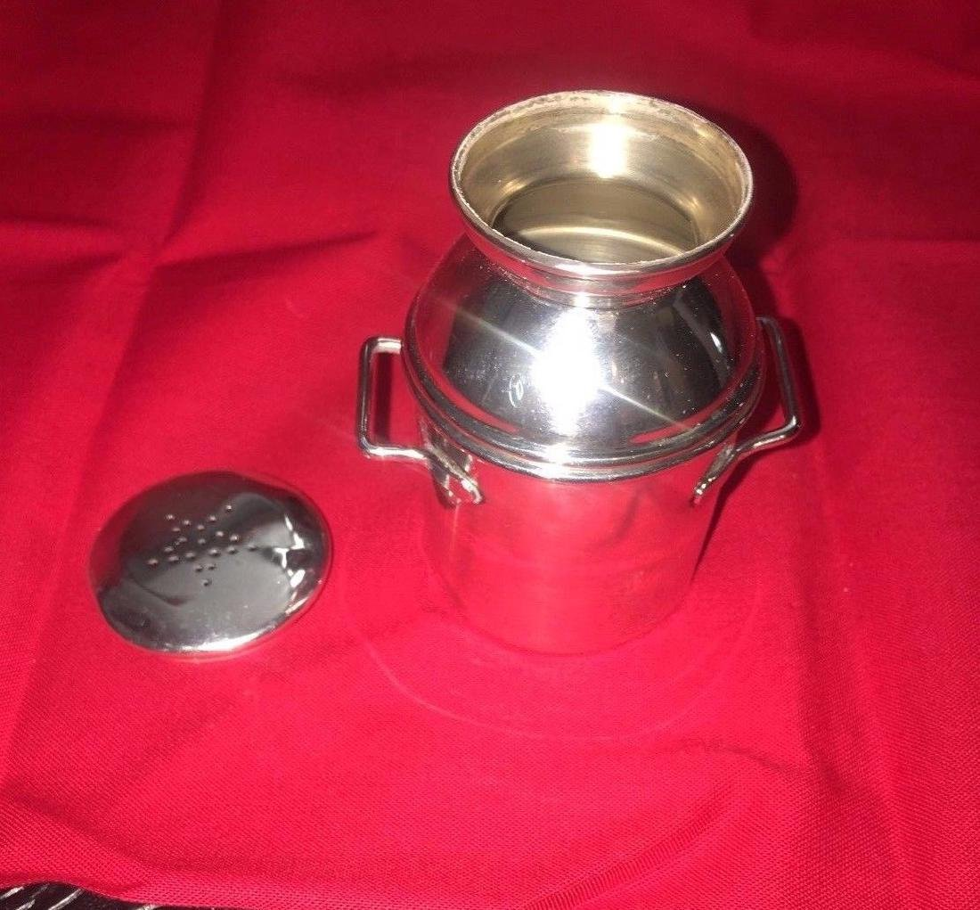 Vintage Sterling Silver Salt & Pepper MilkCan - 3