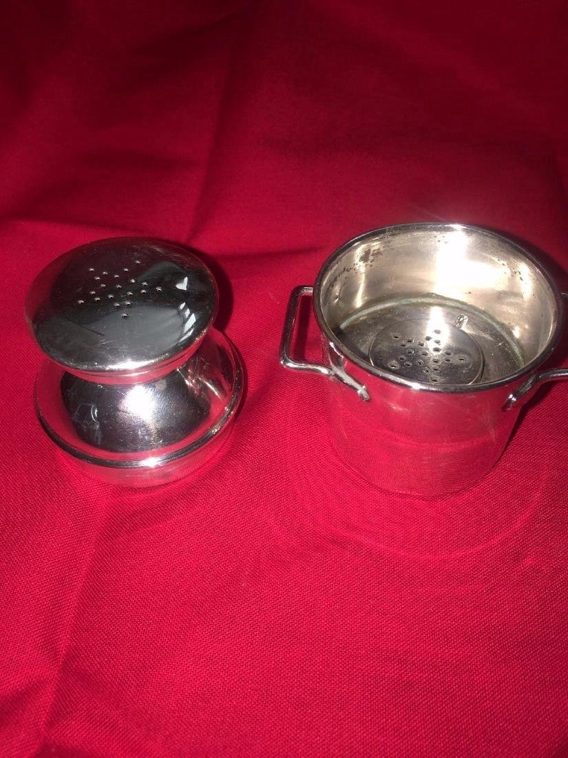 Vintage Sterling Silver Salt & Pepper MilkCan - 4