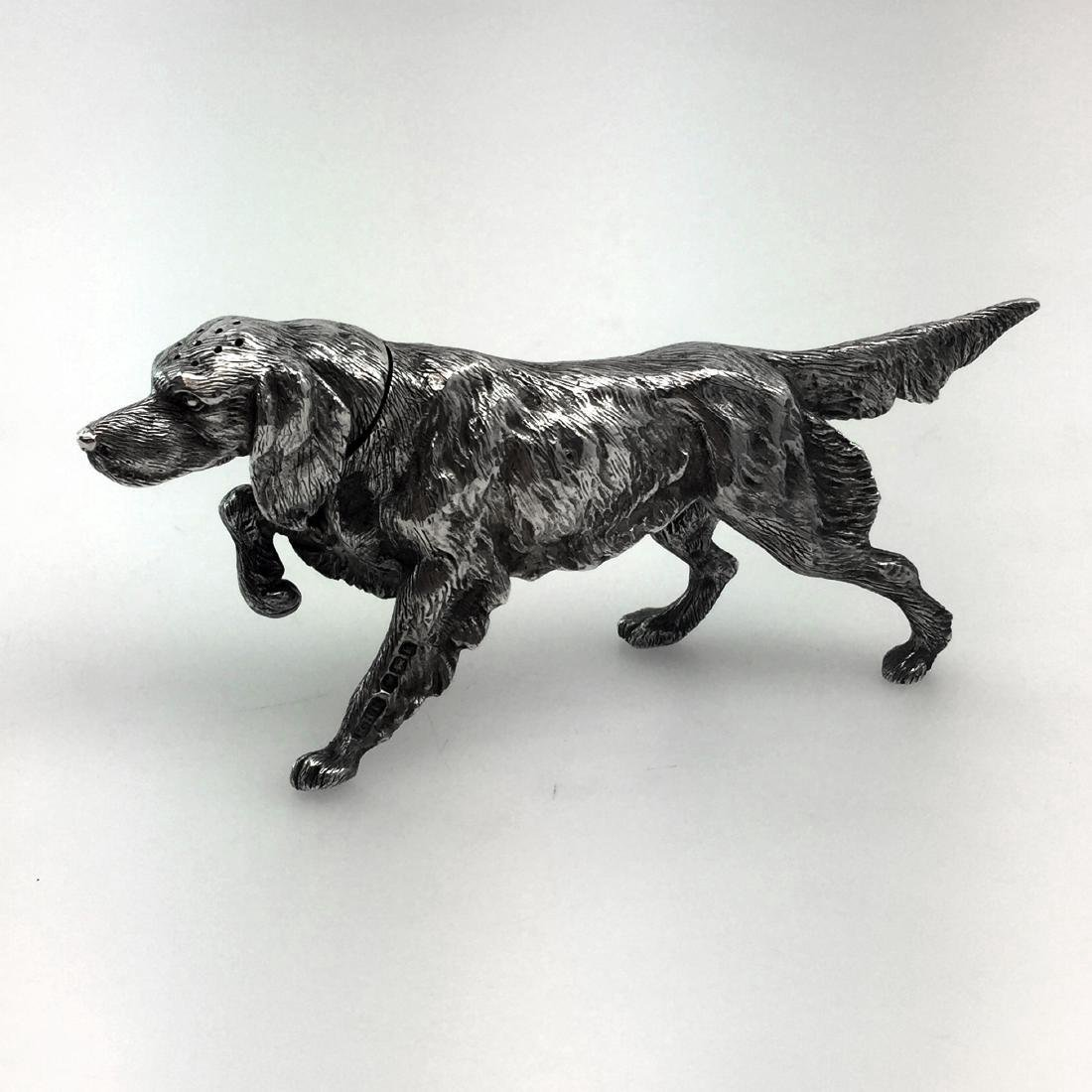 Sheffield Sterling Silver Figural Dog Salt Shaker - 2