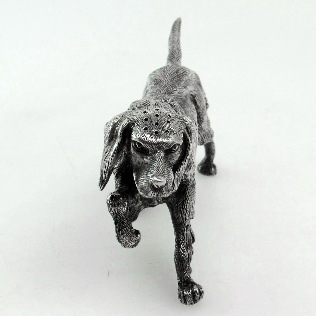 Sheffield Sterling Silver Figural Dog Salt Shaker - 3