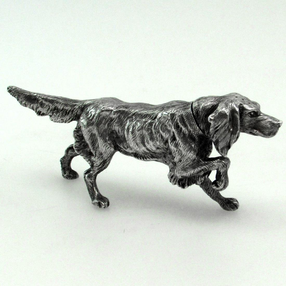 Sheffield Sterling Silver Figural Dog Salt Shaker - 4