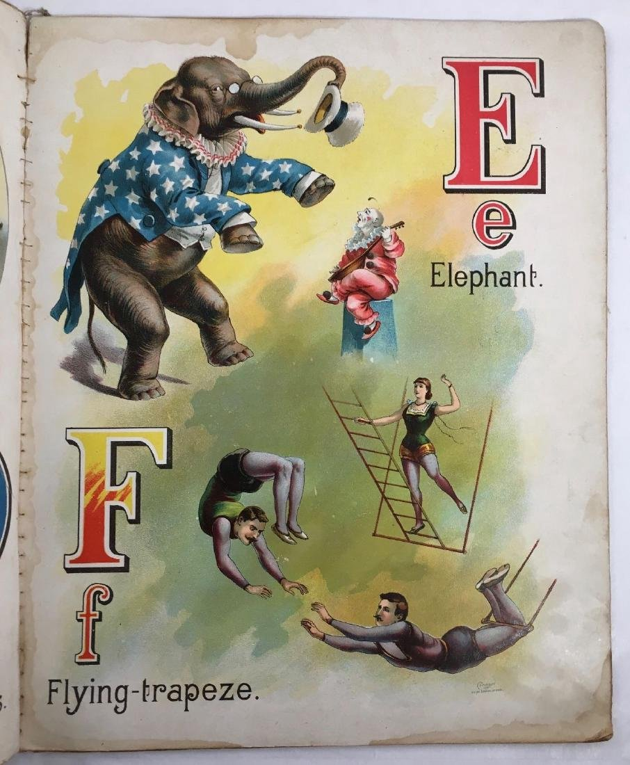 Antique 1897 Mcloughlin Circus Menagerie Childrens Book