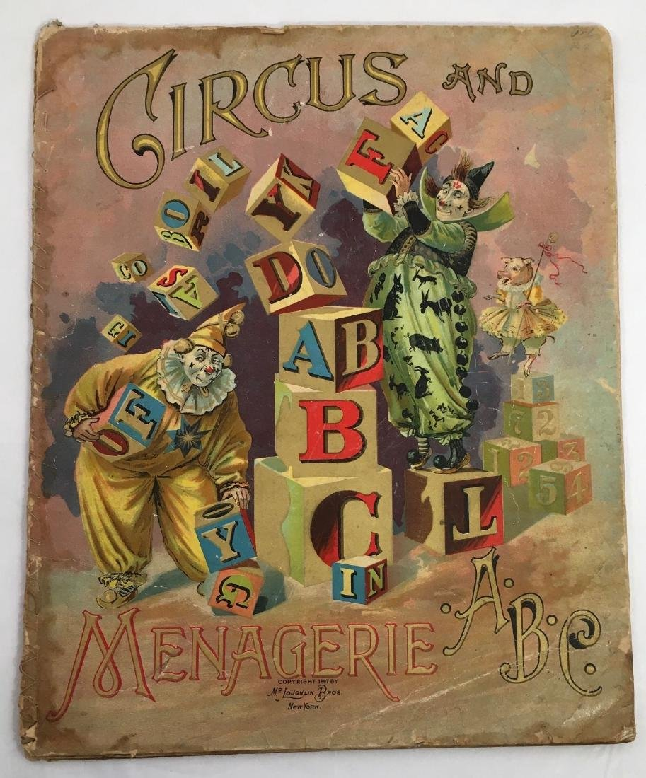 Antique 1897 Mcloughlin Circus Menagerie Childrens Book - 2