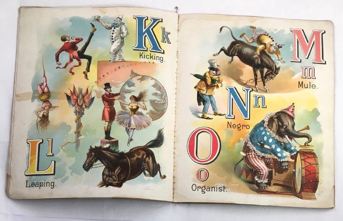 Antique 1897 Mcloughlin Circus Menagerie Childrens Book - 8