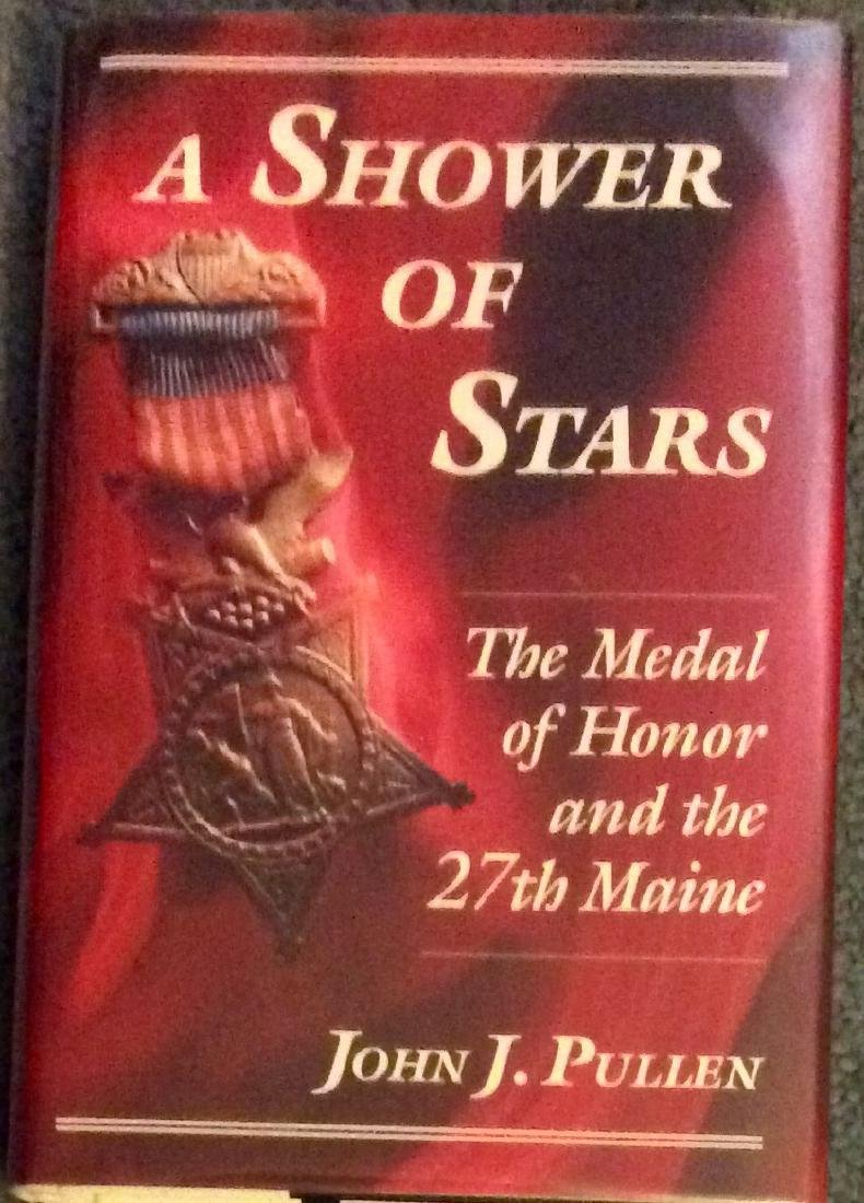 Civil War Hardcover Military History 27th Maine Medals