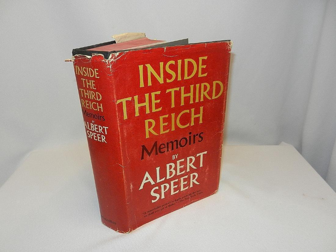 Inside Third Reich Memoirs Albert Speer First Printing