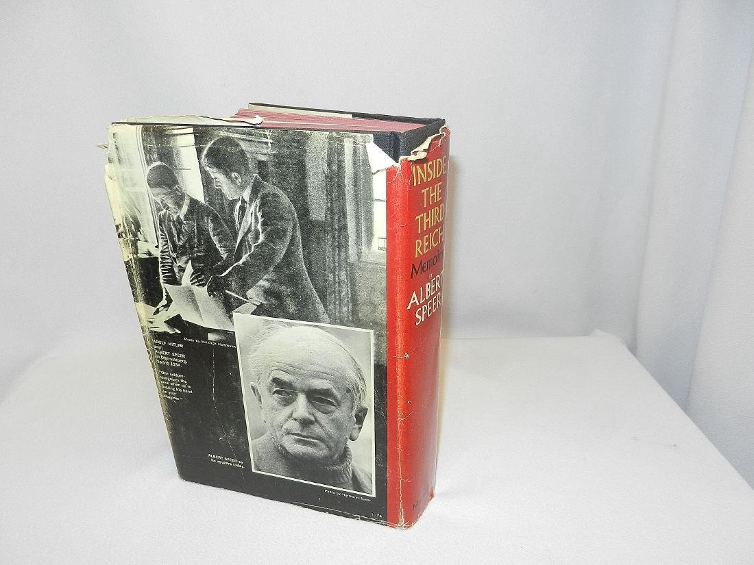 Inside Third Reich Memoirs Albert Speer First Printing - 2