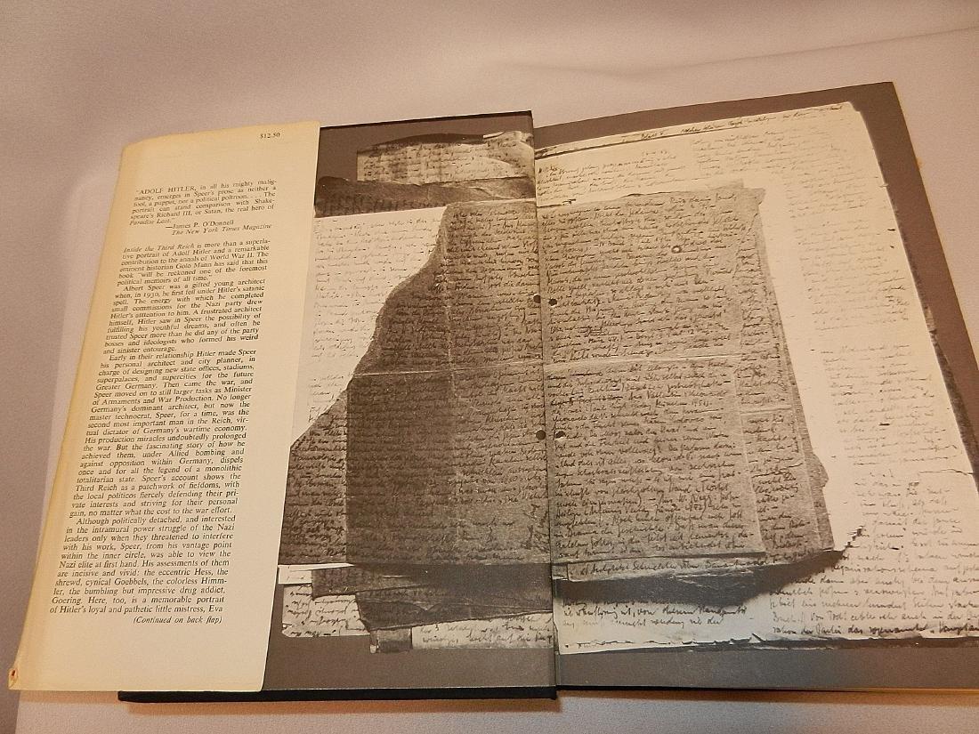 Inside Third Reich Memoirs Albert Speer First Printing - 4
