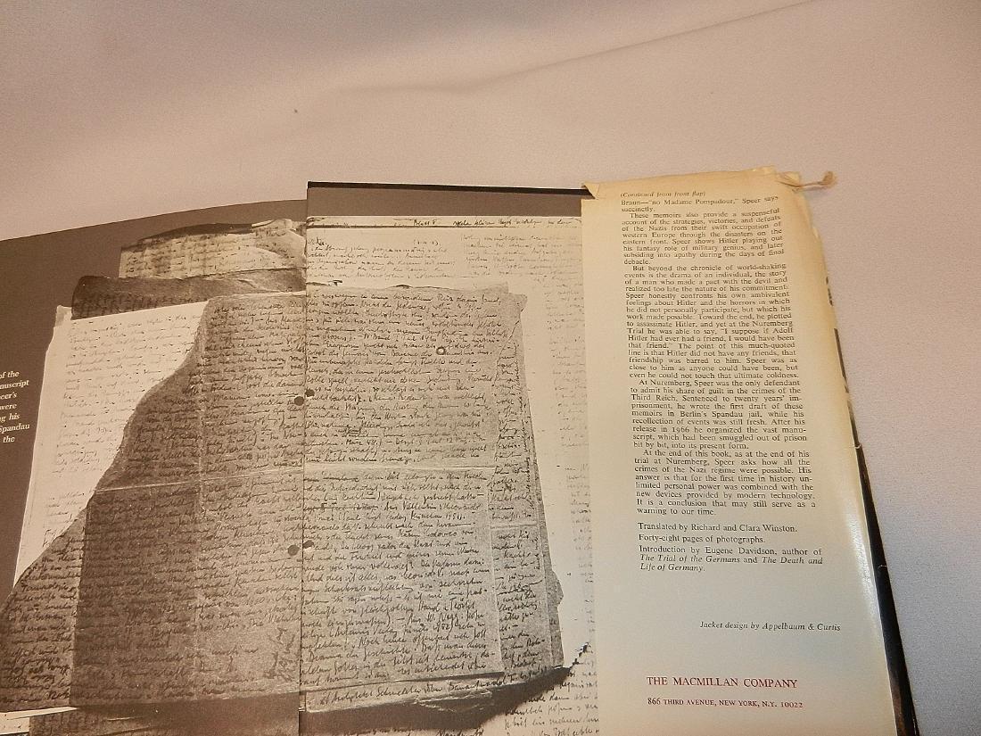 Inside Third Reich Memoirs Albert Speer First Printing - 5
