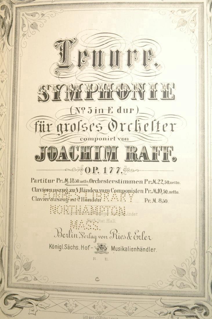 Lenore. Symphonie Orchester. Op. 177. Partitur