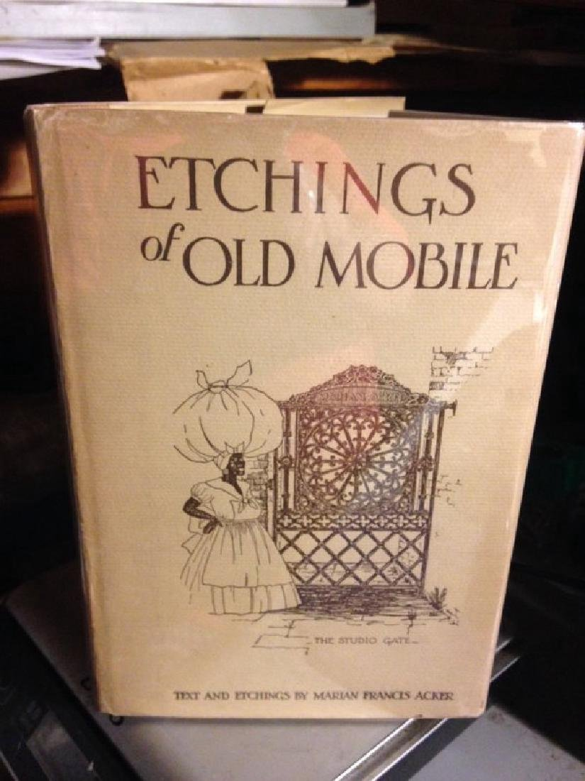 Acker, Marian Francis Etchings of Old Mobile - 2