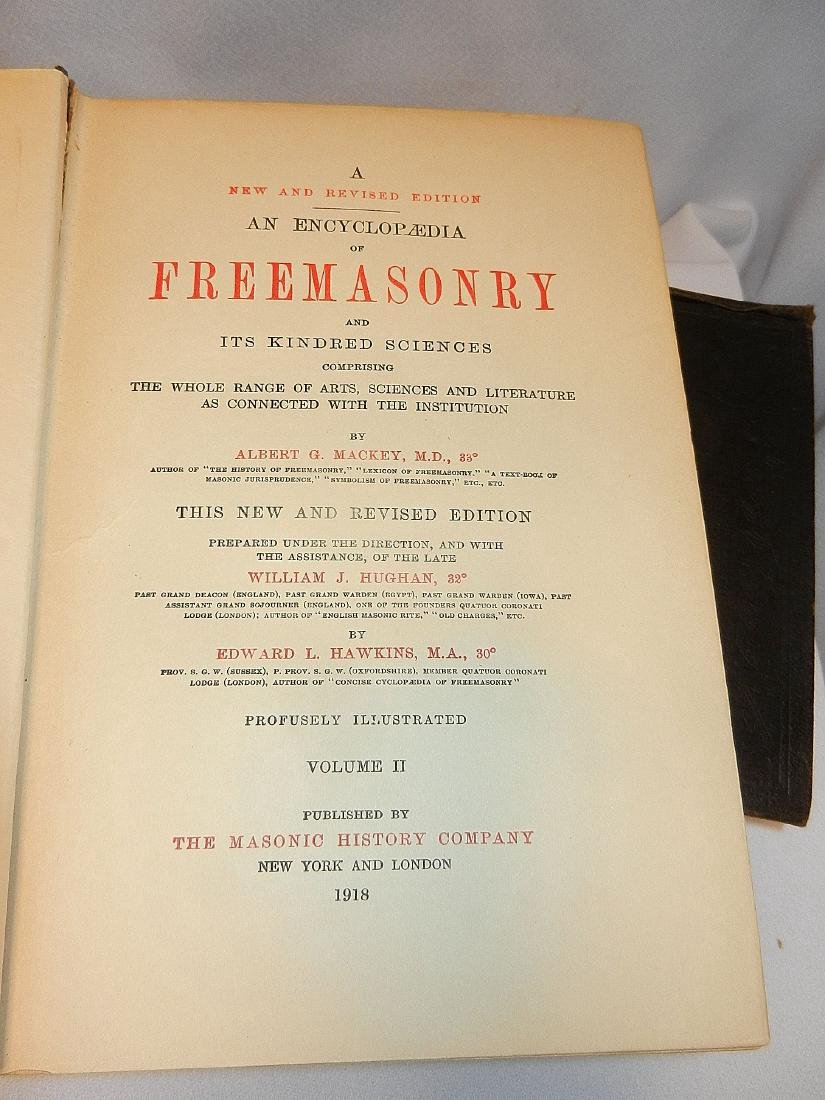Antique Encyclopedia of Freemasonry Volumes 1 & 2 1918 - 8